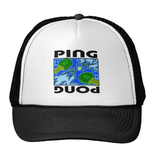 Ping Pong Paddles and Ball Table Tennis Trucker Hat
