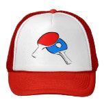 Ping Pong Paddles & Ball Mesh Hats
