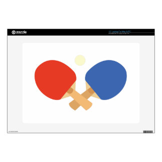 """Ping Pong Paddles Decals For 15"""" Laptops"""