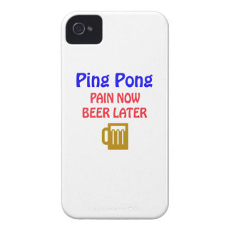 Ping pong pain now beer later iPhone 4 covers