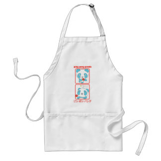 Ping Pong Panda in Action Adult Apron