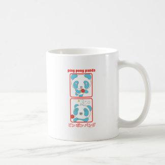 Ping Pong Panda in Action Coffee Mugs