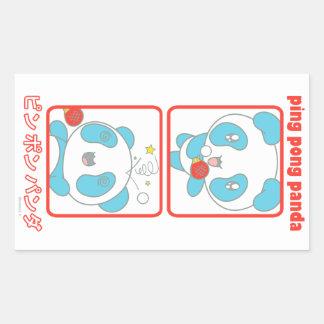 Ping Pong Panda in Action Rectangular Sticker