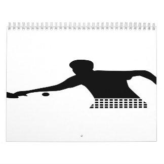 Ping Pong player Wall Calendar