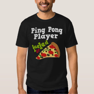 Ping Pong Player (Funny) Pizza T Shirt