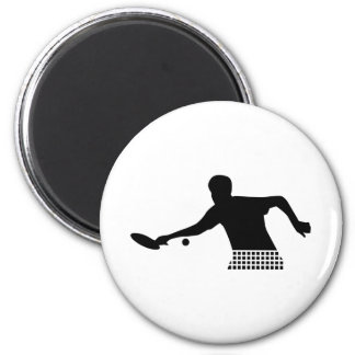 Ping Pong player Refrigerator Magnet