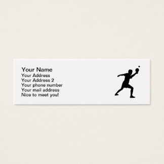 Ping Pong player Mini Business Card