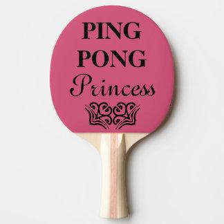 Ping Pong Princess Funny Text Humor Ping Pong Paddle