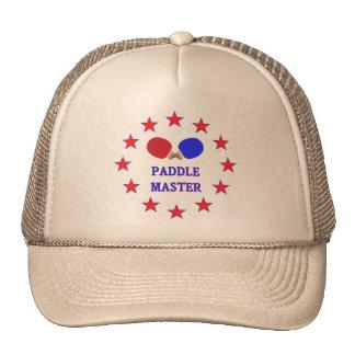 Ping-pong principal de la paleta gorra
