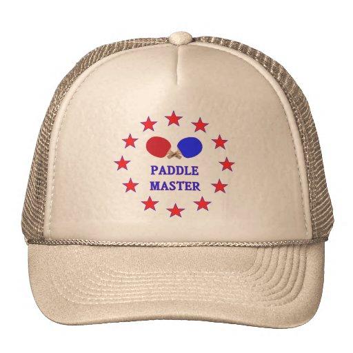 Ping-pong principal de la paleta gorras