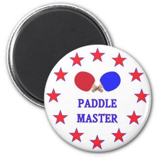 Ping-pong principal de la paleta imán redondo 5 cm