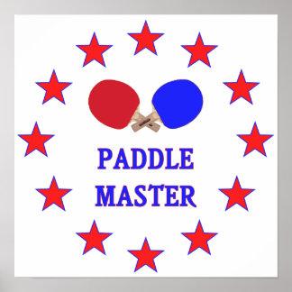 Ping-pong principal de la paleta poster