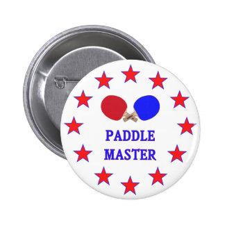 Ping-pong principal de la paleta pin redondo 5 cm