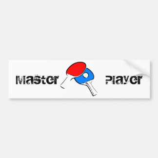 Ping Pong Red and Blue Bumper Sticker