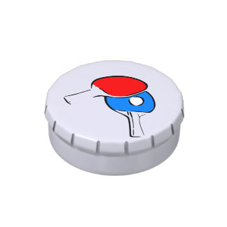 Ping Pong Red and Blue Jelly Belly Tins