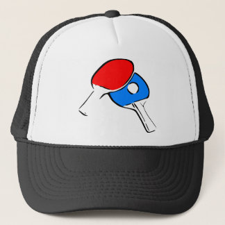 Ping Pong Red and Blue Trucker Hat