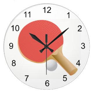 Ping-pong - reloj de pared del diseño de los tenis