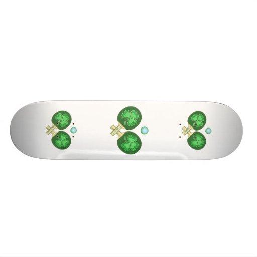 Ping Pong Shamrocks Skate Board Deck