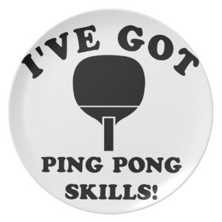 ping pong skill gift items plate