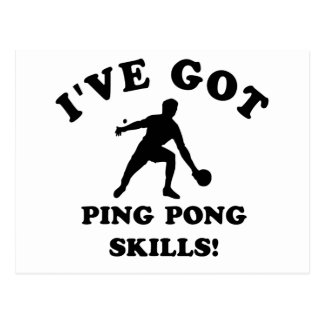 ping pong skill gift items postcard