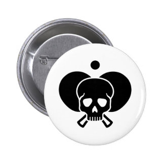 Ping Pong skull Button