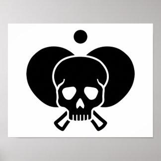 Ping Pong skull Poster