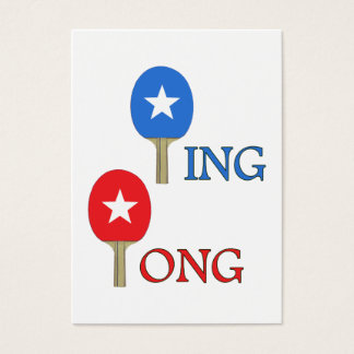 Ping Pong Star Business Card