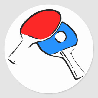 Ping Pong Round Stickers