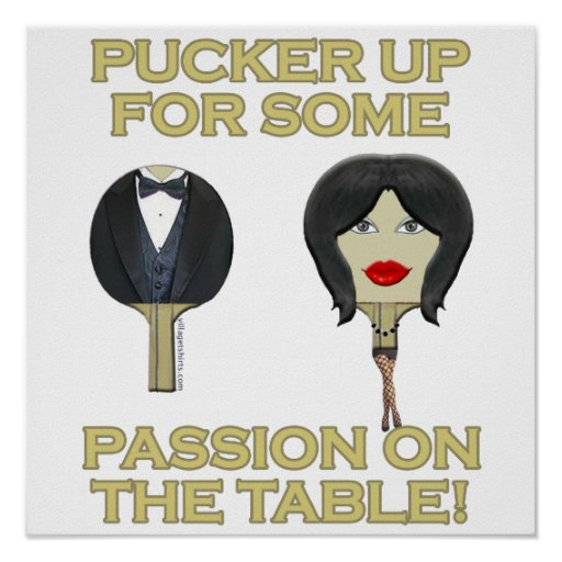 Ping Pong Table Passion Poster