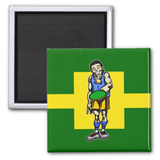 Ping Pong Table Tennis 2 Inch Square Magnet
