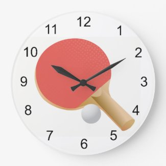 Ping Pong -Table Tennis Design Wall Clock