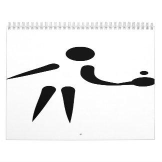 Ping Pong table tennis player Calendar