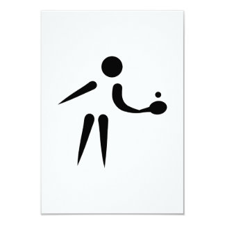 Ping Pong table tennis player Invites