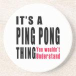 Ping Pong Thing Designs Coasters