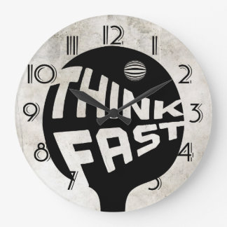 Ping Pong Think Fast Large Clock