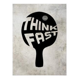 Ping Pong Think Fast Posters