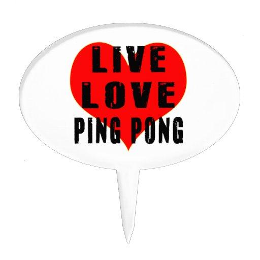 Ping-pong vivo del amor figuras de tarta