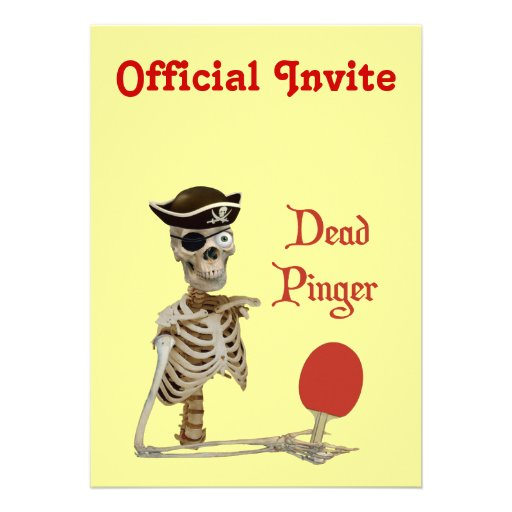 Pinger Pirate Ping Pong Personalized Announcements
