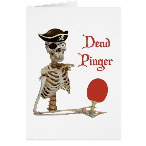 Pinger Pirate Ping Pong Stationery Note Card