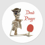 Pinger Pirate Ping Pong Stickers
