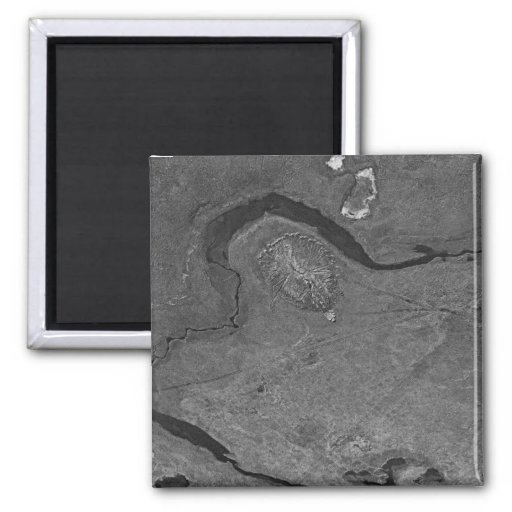 Pingo and Gravel Excavation East of Colville River Refrigerator Magnet