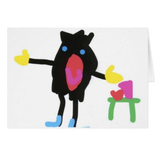 Pingu - cosecha del auge del tirón tarjeta de felicitación
