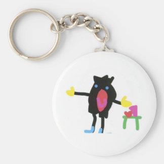 Pingu - Flip Boom crop Keychain