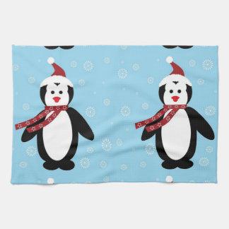 pinguim de natal toalla de mano