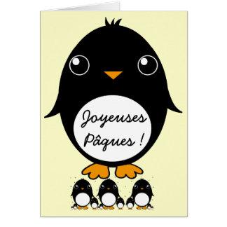 "Pinguin ""Joyeuses Pâques"" Card"