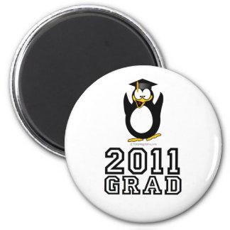 Pingüino 2011 del graduado imán de frigorífico