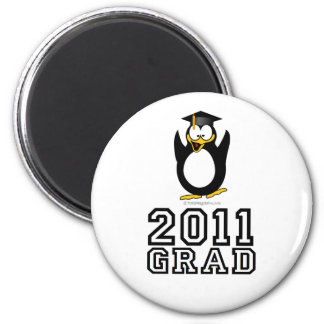 Pingüino 2011 del graduado imán redondo 5 cm