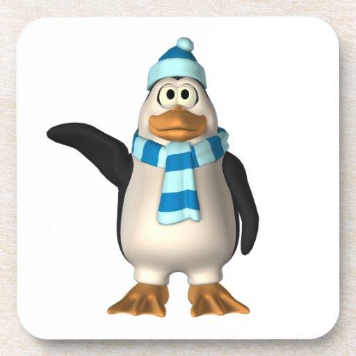 pingüino 3D Posavasos De Bebidas