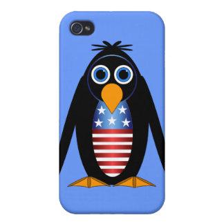 pingüino 4 de julio iPhone 4/4S fundas