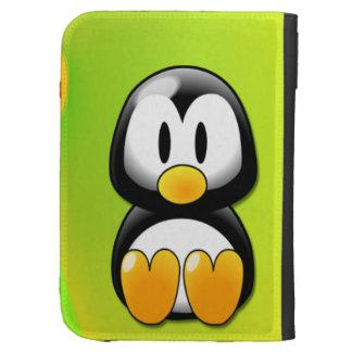 Pingüino adorable del dibujo animado que se sienta